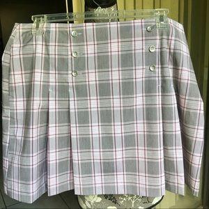 IZOD Women's Plaid Cool FX Golf Skort Size 16
